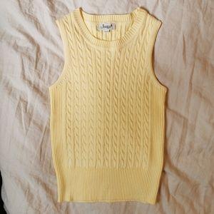 Vintage Sweater Vest Baby Yellow M